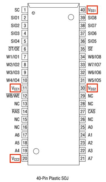 VRAM_pinout_Circuit Bending