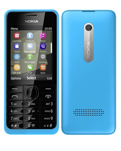 Nokia 301 Blue 8