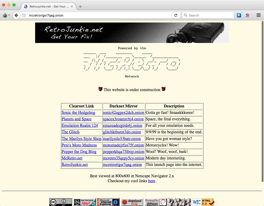 The Darknet, Tor and SSL – McRetro net